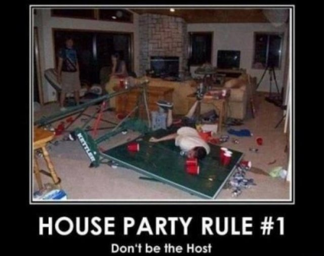 Party Memes House party rule