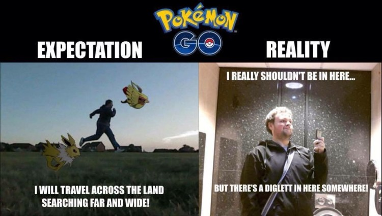 Pokemon Go Meme Expectation I Will Across The Land Searching Far