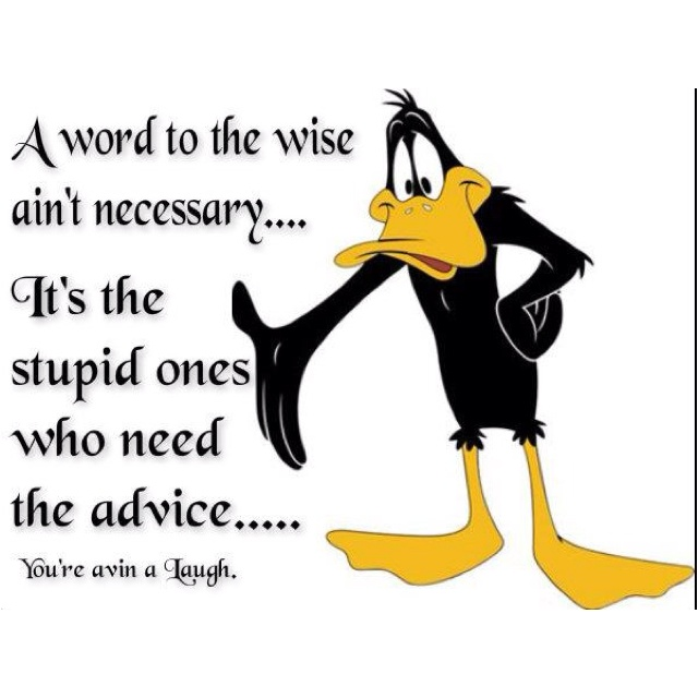 Porky Pig Quotes a word to the wise ain't necessary it's the stupid