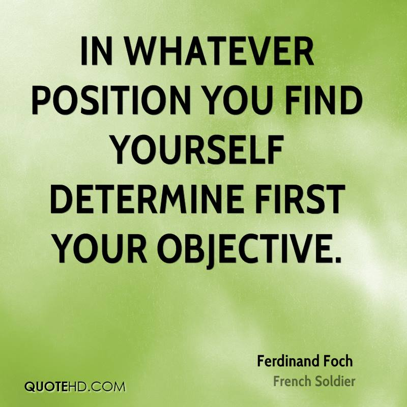 Position Sayings in whatever position you find yourself determine first
