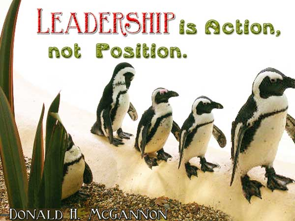 Position Sayings leadership is action not position