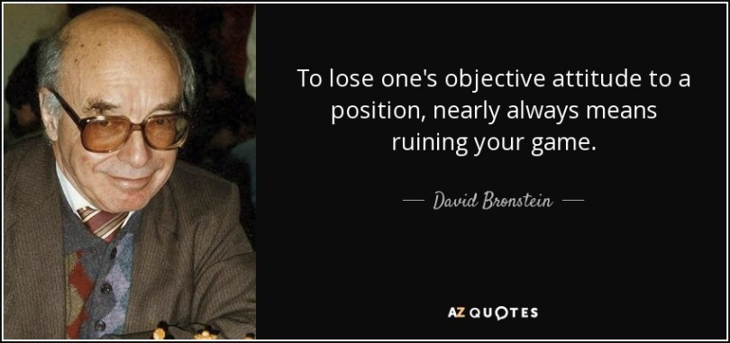 Position Sayings to lose one's objective attitude to a position nearly always means