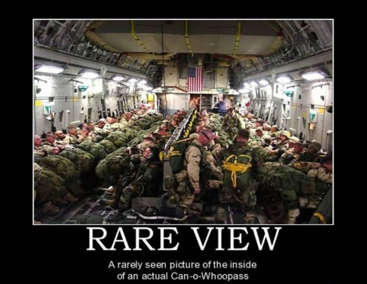 Rare view a rarely seen picture of the inside Funny Army Image