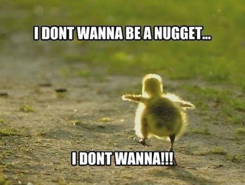 Sad Meme i don't wanna be a nugget