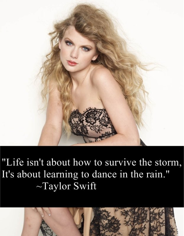 Singer Quotes life isn't about how to survive the storm
