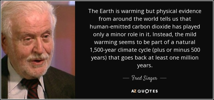 Singer Sayings the earth is warming but physical evidence