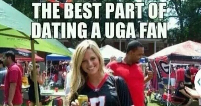 The best part of dating a uga fan Football Meme