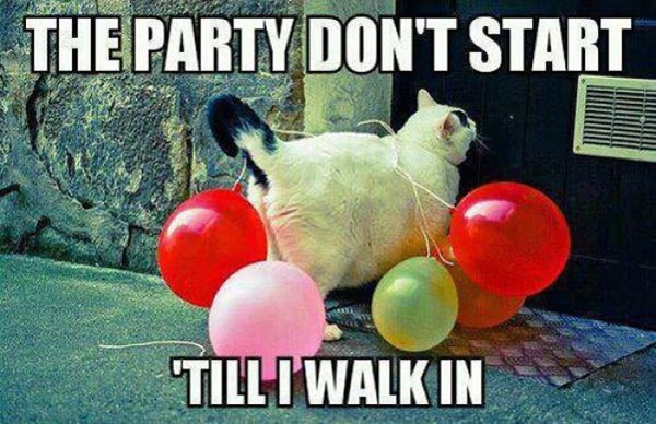 The party don't start till i walk in Funny Party Meme
