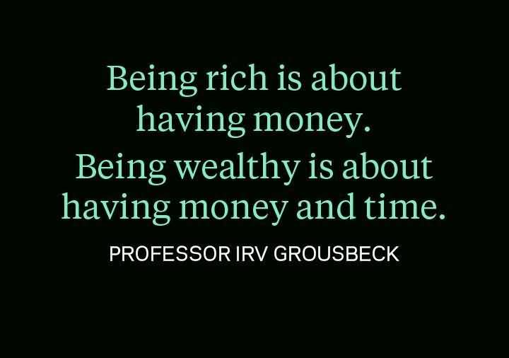 Time Quotes Being rich is about having money being wealthy is about having money and time