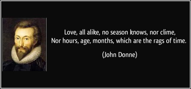 Time Quotes Love alike no season knows nor clime nor hours age months which are the rags of time John Donne