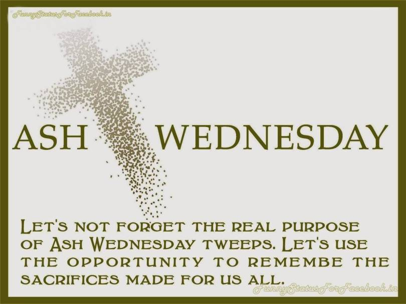 To You And Your Family Happy Ash Wednesday