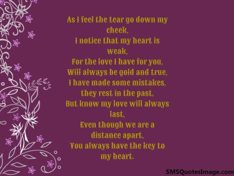 You Have My Heart Quotes as i feel the tear go down my check