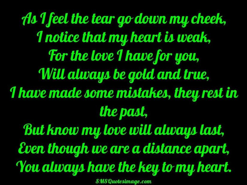 You Have My Heart Quotes as i feel the tear go down my cheek