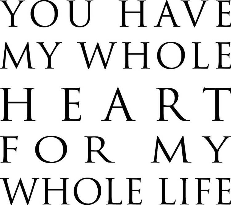 You Have My Heart Quotes you have my whole heart for my whole life (2)