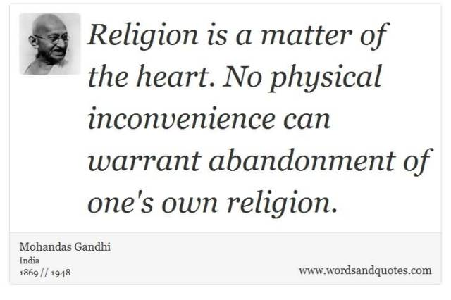 abandonment sayings religion is a matter of the heart no physical