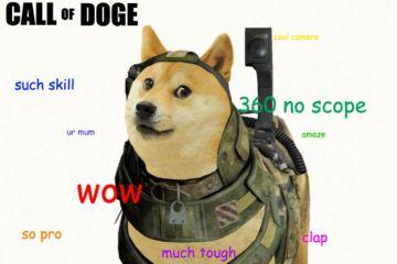 call of doge such skill 360 no scope doge meme