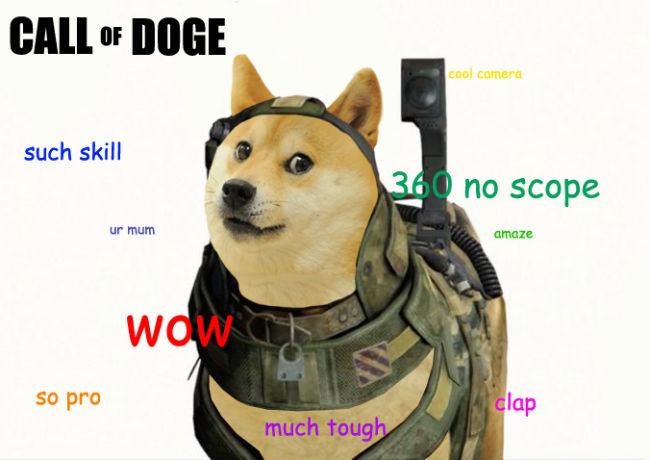 call of doge such skill 360 no scope doge meme