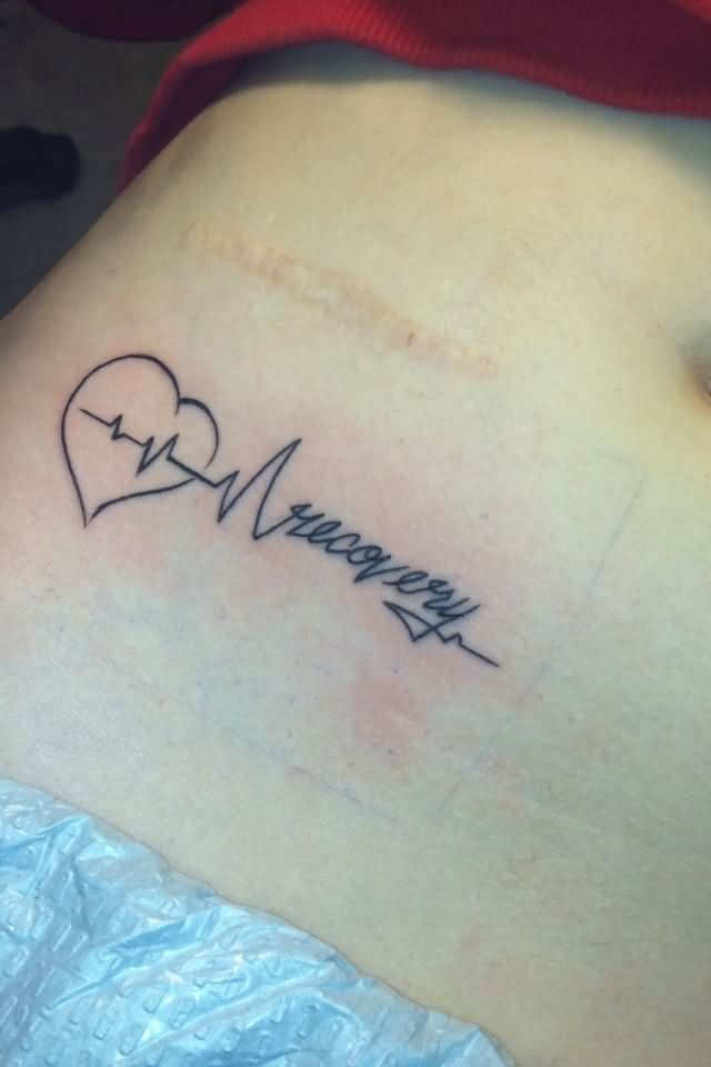 coolest mental illness tattoos on rib for women