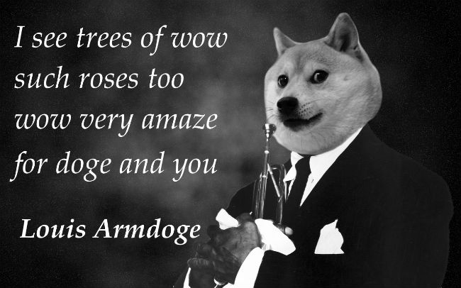 doge meme i see tree of wow such roses too wow very