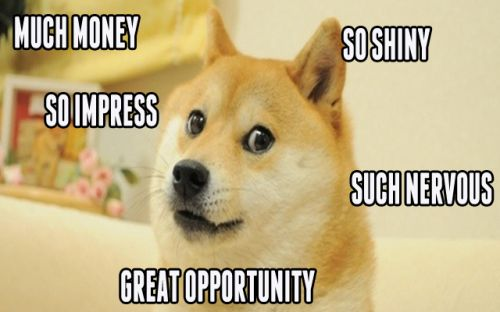 much money so impress so shiny such nervous doge meme