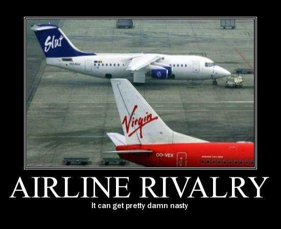 Airline rivalry i can get pretty damn nasty High Meme