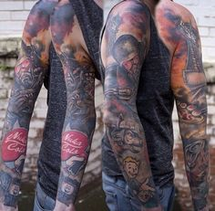 Amazing Fallout Tattoos For men's arm