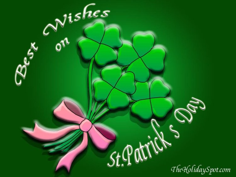 Best Wishes On St. Patrick's Day Greetings Image