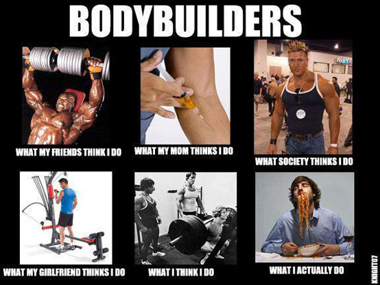 Bodybuilders What my friends think i do what my mom thinks i do Muscle Meme
