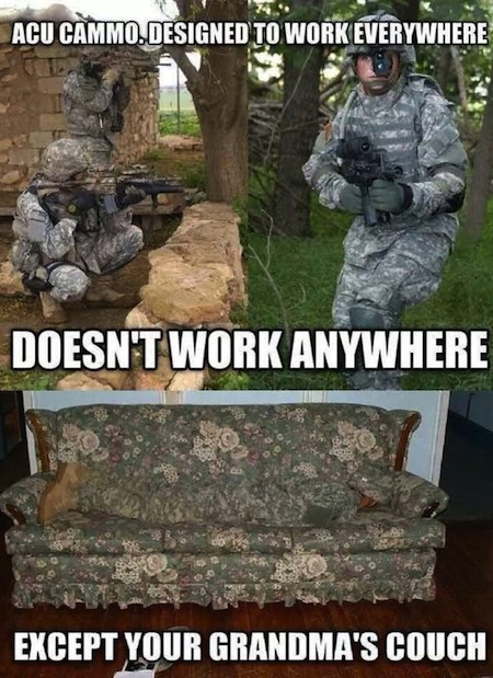 Camouflage Meme Acu cammo designed to work everywhere