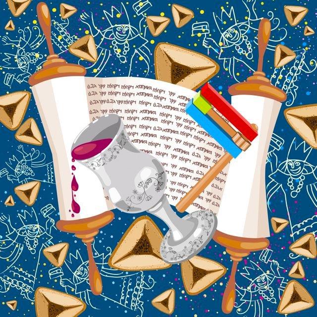 Celebration Of Purim Wishes Message Image