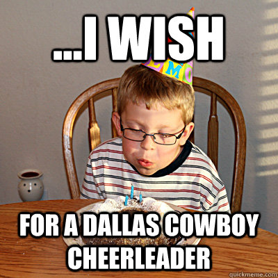 Cheerleading Memei wish for a dallas cowboys cheerleader