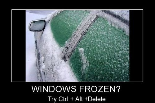 Computer Memes windows frozen try ctrl alt delete