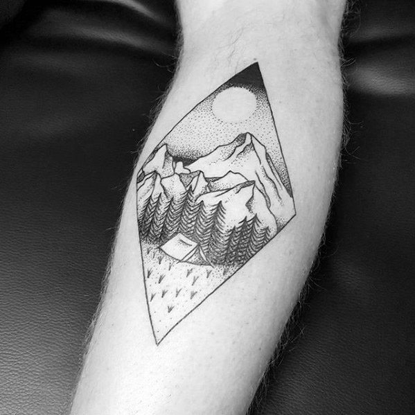 Cute Camping Tattoos On arm for men