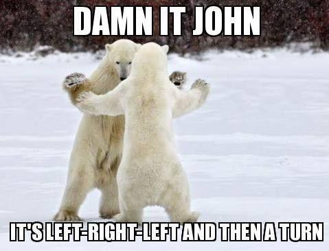 Dance Meme damn it john it's left right left and