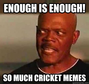 Enough is enough so much cricket memes Cricket Memes
