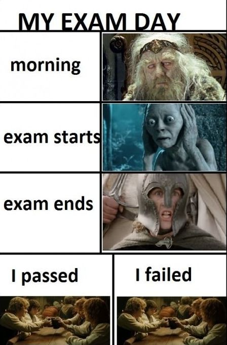 Exam Meme My exam day morning exam start
