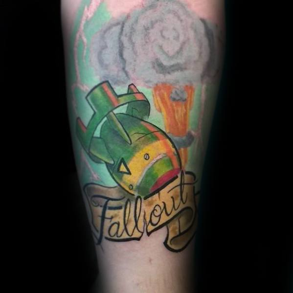 Famous Fallout Tattoo On arm