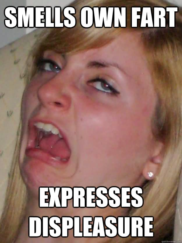 Fart Memes smells own fart expresses displeasure