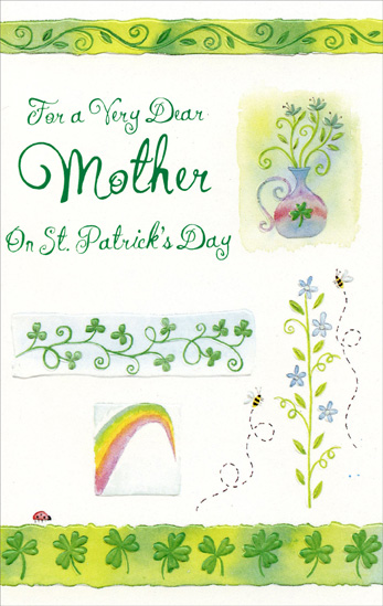 For Very Dear Mother On St. Patrick's Day Greetings Card