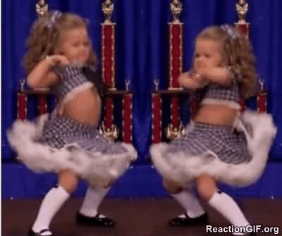 Funny little girls Dance Meme