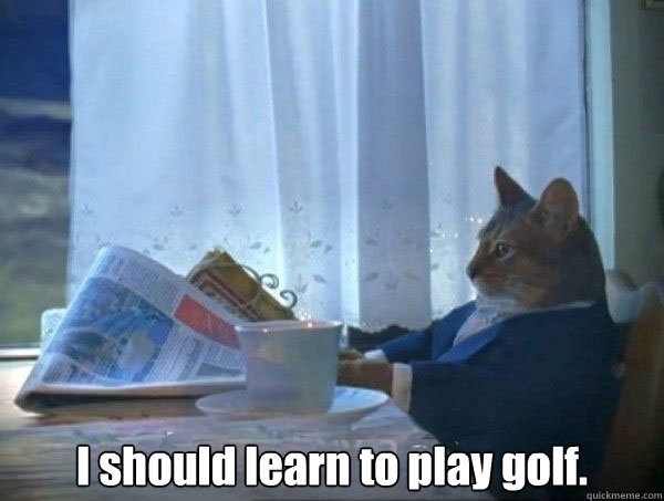Golf Meme I should learn to play golf