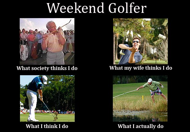 Golf Meme weekend golfer what society thinks i do