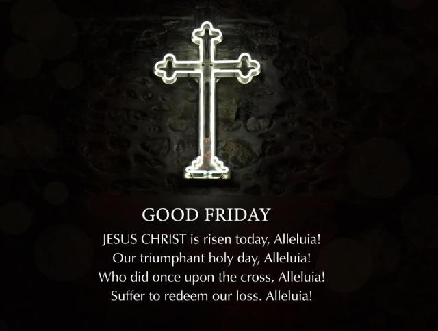 Good Friday Quotes Wishes With Cross Wallpaper
