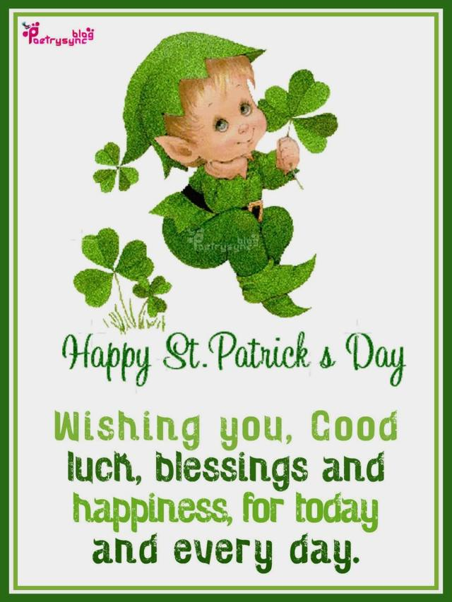 Happy St. Patrick's Day Blessing Card For Friends