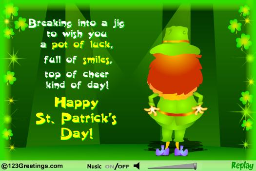 Happy St. Patrick's Day Poem Greetings Image