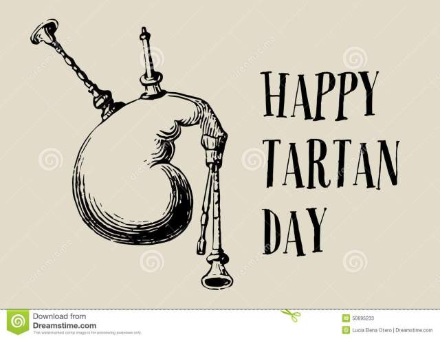 Happy Tartan Day Clipart