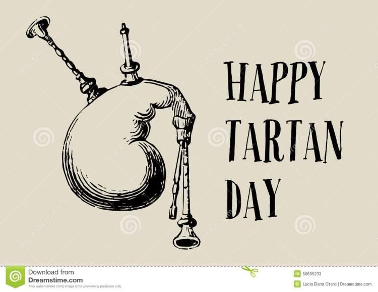 Happy Tartan Day Clipart