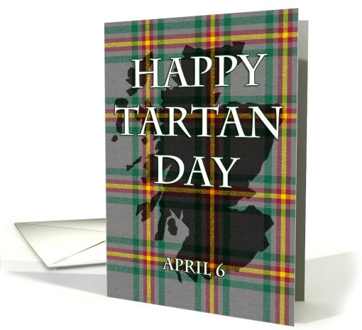 Happy Tartan Day Greetings Card Image
