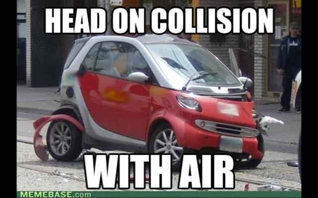Head on collisiion with air Car Memes