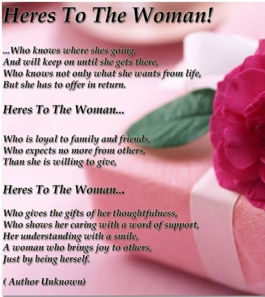 Here's To The Woman Happy Women's Day Quotes